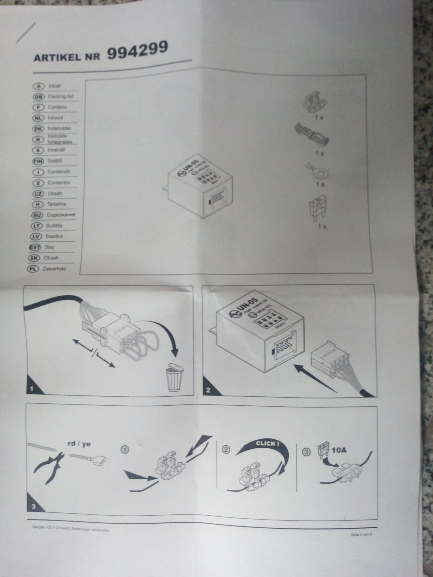 Blinküberwachung für Anhänger UN-05 Einbau