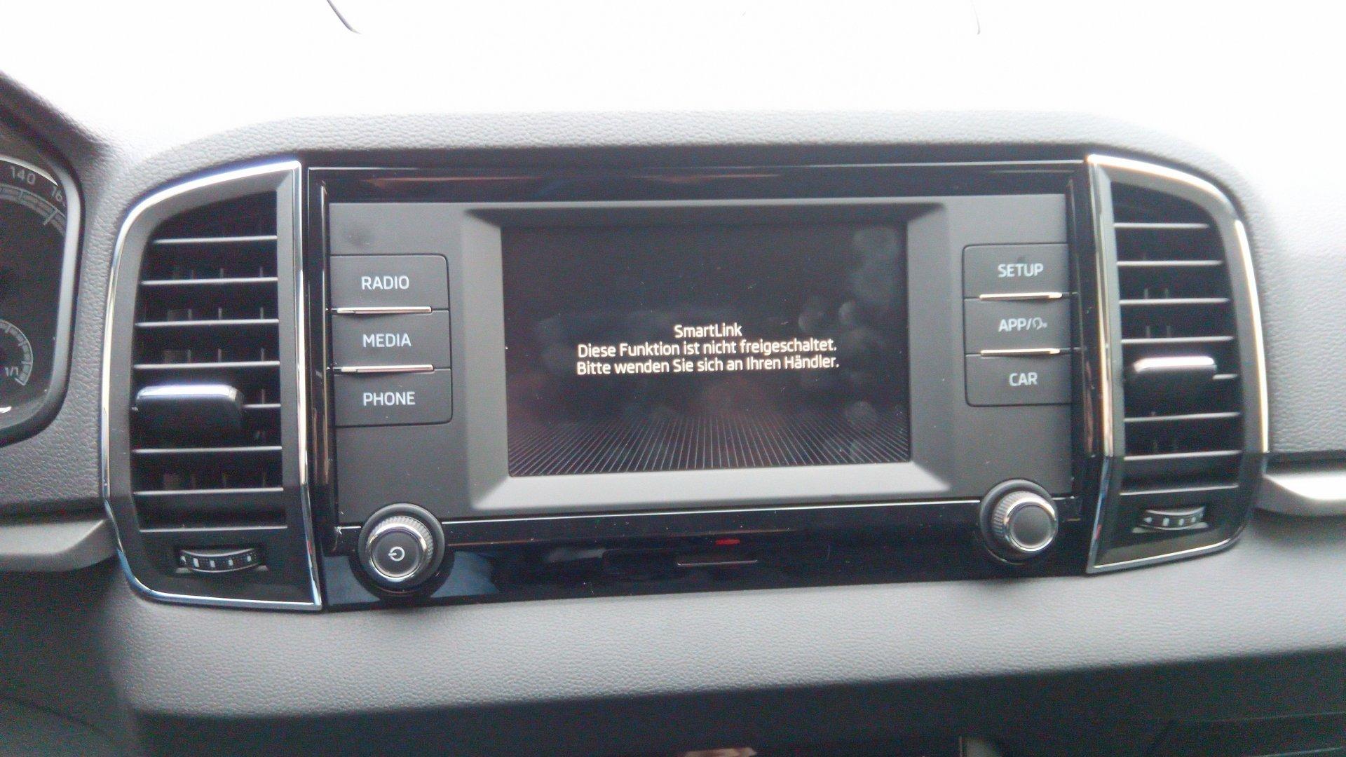 Karoq - Karoq Smartlink bei Swing Radio freischalten lassen