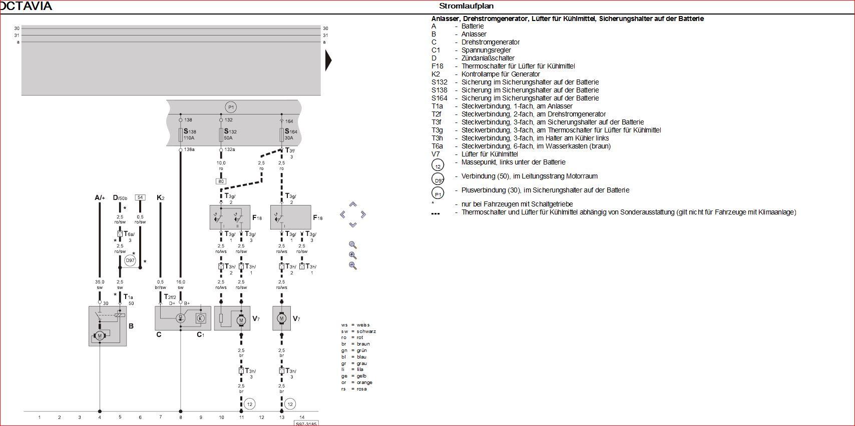 Stromlaufplan bzw Pinbelegung für Kühlmitteltemperatursensor