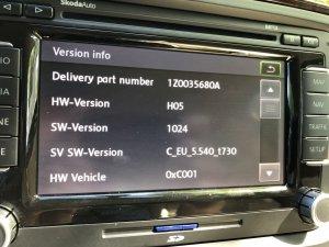 Superb II - Aktualisierung Firmware Columbus RNS 510 für